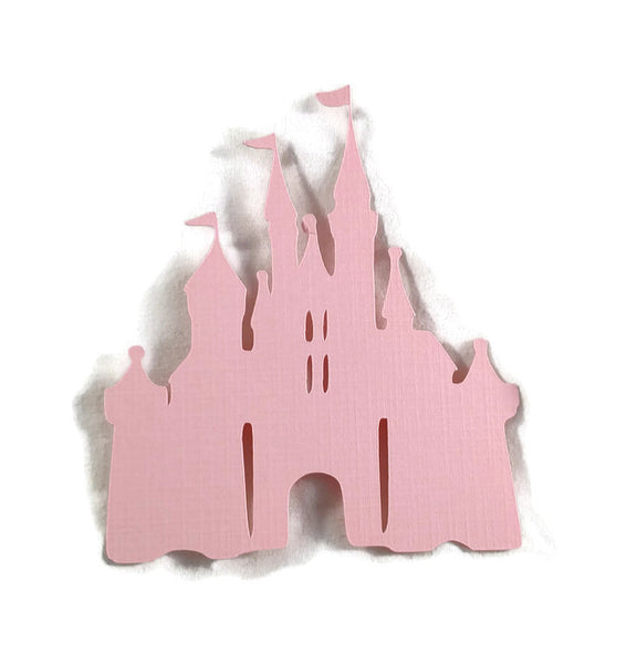 Disney World Princess Castle Die Cuts Pink Cardstock