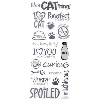 Cat Stickers Black and White