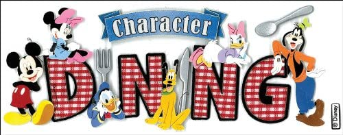 Character Dining Disney Vacation Stickers