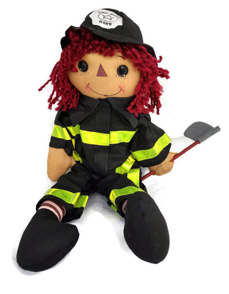 Firefighter Cloth Rag Doll Chief Charlie