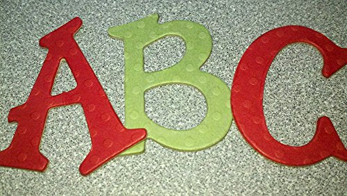 Chipboard Alphabet Letters Red and Green Polka Dot