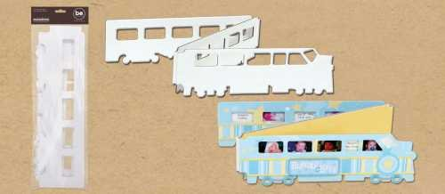 Train Chipboard Accordian Scrapbook Album