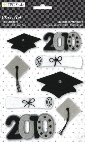 Class Act Graduation Felt Stickers by TPC 2010