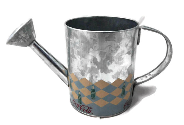 Coca Cola Metal Watering Can Tin