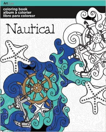 Adult Coloring Book, Nautical Designs
