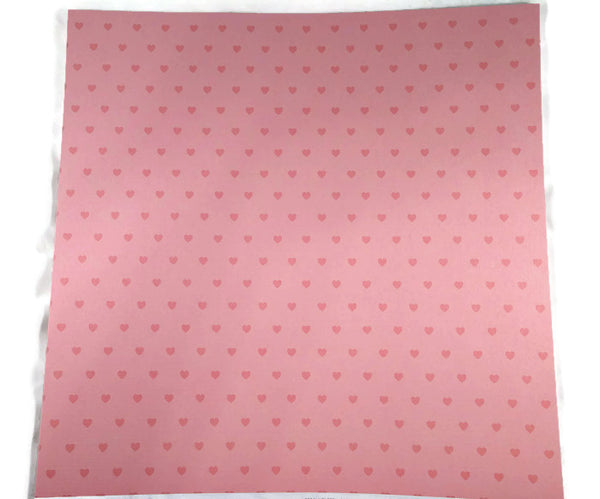 Coral Cardstock with Heart Prints 12x12 Coredinations