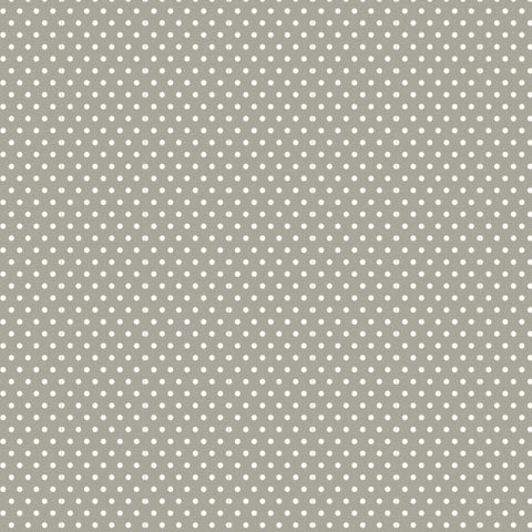 Grey Polka Dot Patterned Cardstock 12x12
