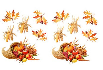 Thanksgiving Cornucopia Glittered Stickers - 2 Sheets