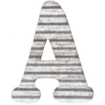 Raw Corrugated Metal Letter A for Decoration or Crafting