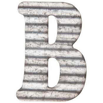 Raw Corrugated Initial Letter B for Decoration or Crafting