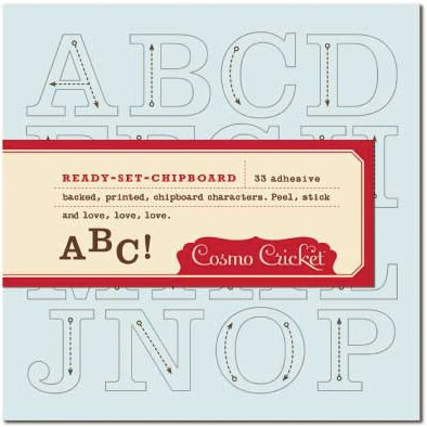 Cosmo Cricket Chipboard Alphabets Tick Tock