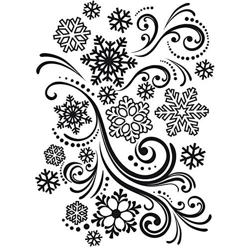 Swirling Snowflake Embossing Folder by Darice