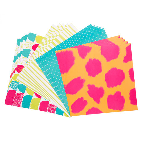 Tropical Colored Patterned Cardstock 12x12 20 Sheets