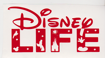 Large Vinyl Decal - Disney LIFE- Red