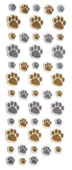 Dog paw print puffy stickers set 48 Pieces