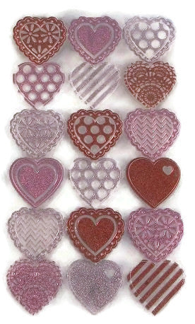 Lasercut Doily Valentine Heart Stickers