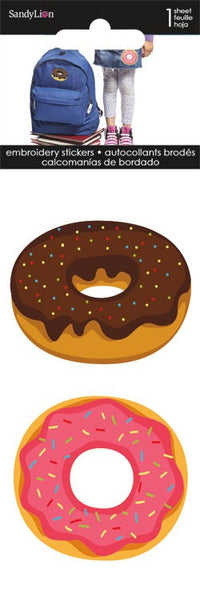 3d Donut Embroidered Stickers