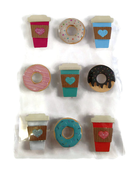 Donuts and Coffee Shop 3d Stickers