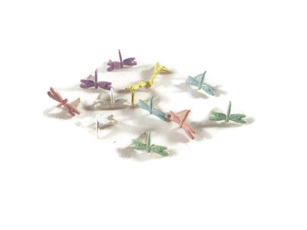 Dragonfly Brads - 12pc - Pastel Assorted