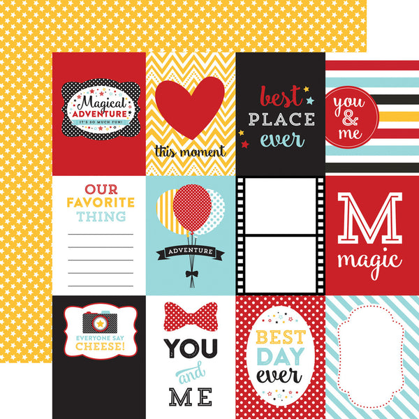 Magical Adventures 3x4 Squares Paper by Echo Park