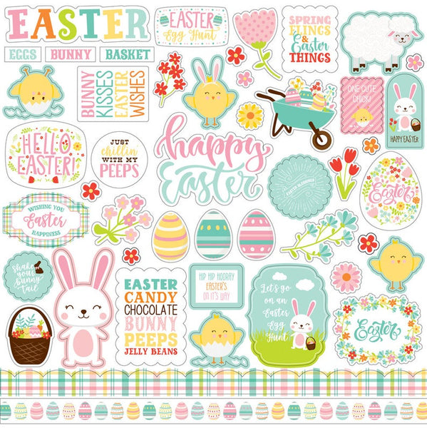 Easter Wishes Element Stickers by Echo Park