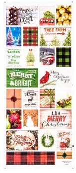 Eclectic Christmas Scrapbook Stickers