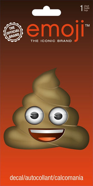 Poop Emoji Repositionable Decal Sticker