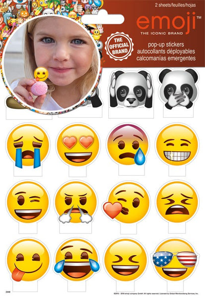 Emoji Emoticon Pop Up Smiley Face Stickers