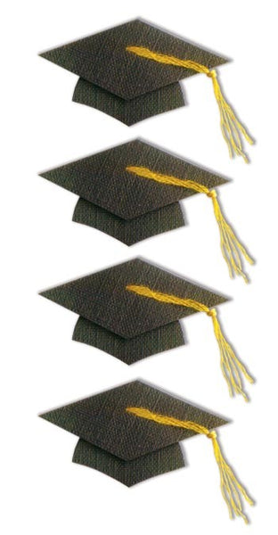 Large Graduation Cap 3d Stickers - Essentials by Sandylion