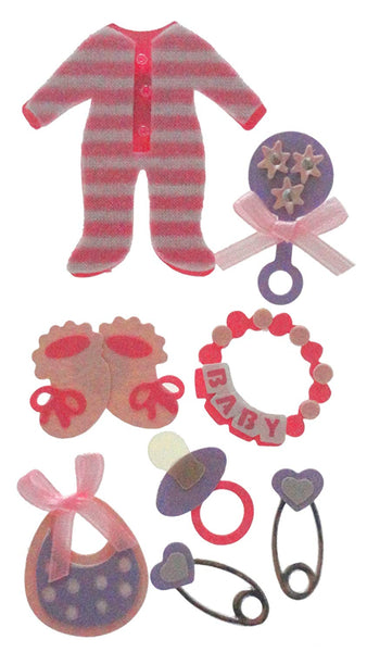 Baby Girl Essentials 3d Stickers