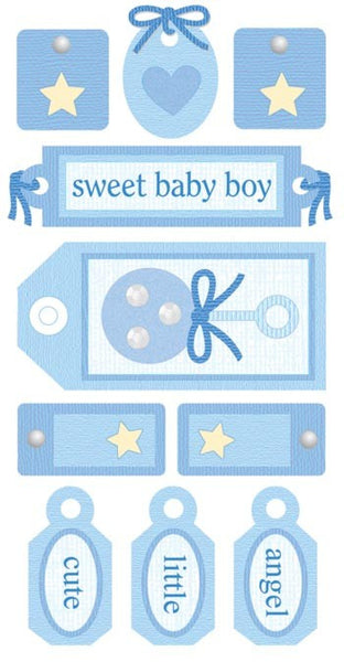 Baby Boy 3d Tag Stickers