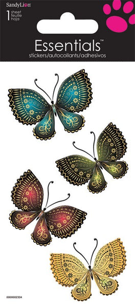 Realistic Butterfly Foiled 3d Stickers