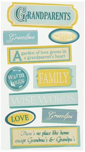 Grandparents Essentials 3d Stickers