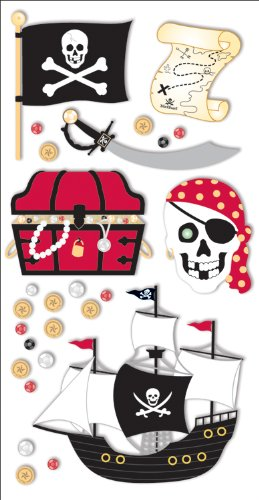 Essentials 3d Pirates Scrapbook Stickers