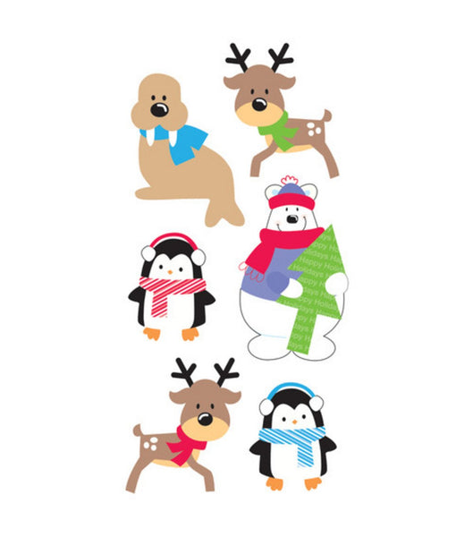 Santas Buddies Essentials 3d Christmas Stickers