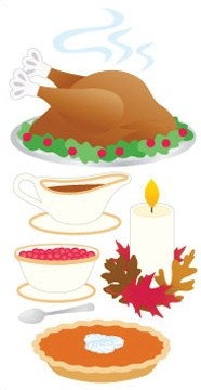 Thanksgiving Dinner 3d Essential Stickers