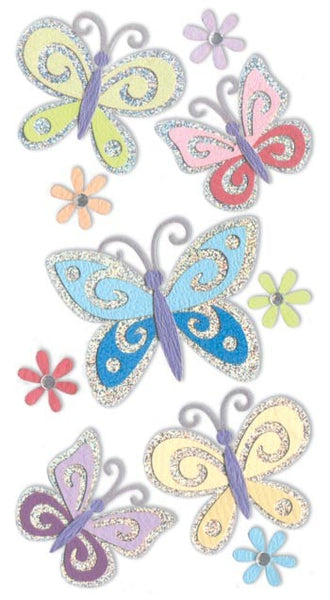 Essential Holographic Butterfly Stickers