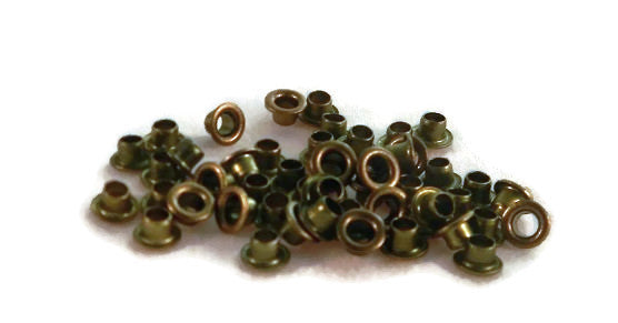 Olive Green Colored Round Eyelets Set of 50