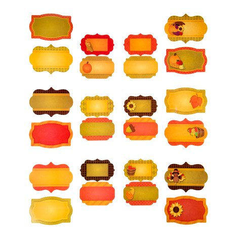 Fall Recipe Label Stickers Set 24 Pieces