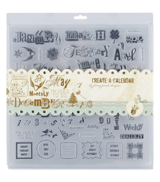 Fancy Pants Create a Calendar Stamp Set