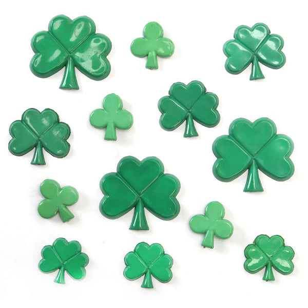 Shamrock Buttons by Favorite Findings