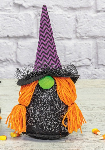 Halloween Fiery Witch Gnome