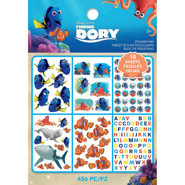 Finding Dory Character Disney Movie Stickers - 18 Sheets - 456 stickers! Nemo