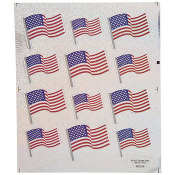 Holographic American Flag Stickers