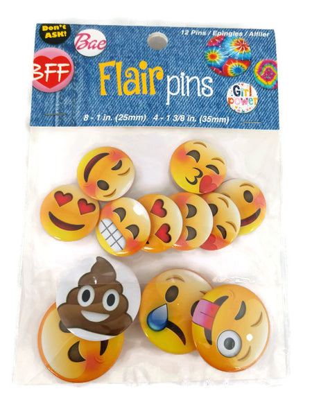 Emoji Flair Button Pins