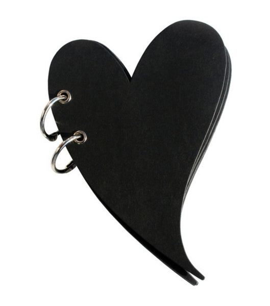 Heart Shaped Flirt Blackboard Blank Journal/scrapbook Album