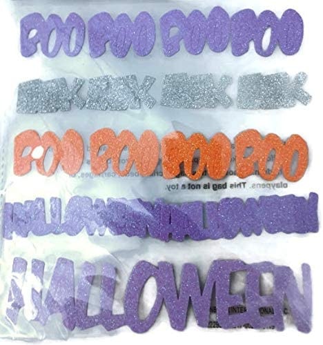 Halloween Foam Word Stickers