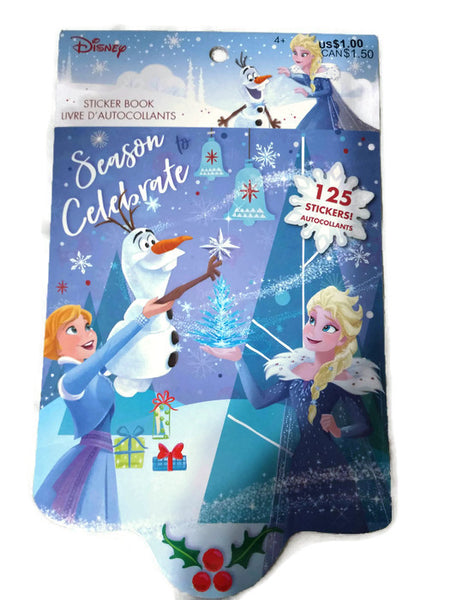 Frozen Season Celebrate Christmas/Winter Sticker Book 125 Stickers