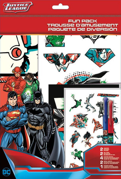 Fun Packs Stickers - DC Comics - Justice League Toys Decals