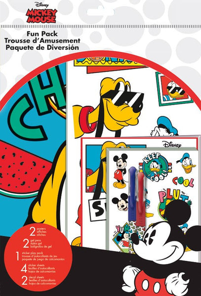 Mickey Mouse Disney Theme Fun Pack Stickers Pens, Posters, Decals, Poster